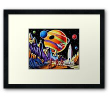 NEW WORLDS Framed Print