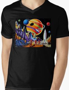 NEW WORLDS Mens V-Neck T-Shirt