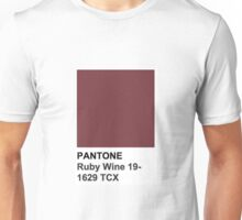 Pantone- Ruby Wine 19-1629 TCX Unisex T-Shirt
