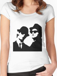 blues brothers Women's Fitted Scoop T-Shirt