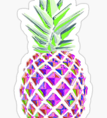 Psychedelic Pineapple Sticker