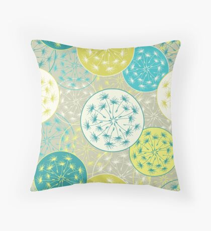 Pattern with dandelion flowers Throw Pillow