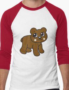 go girl female woman stroll sweet cute comic cartoon teddy bear Men's Baseball ¾ T-Shirt