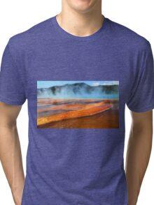 Grand Prismatic Spring, Yellowstone Tri-blend T-Shirt