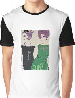 Pop Art Mid-Century Inspired Retro Portrait - Women #1 Graphic T-Shirt