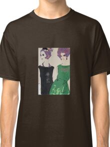 Pop Art Mid-Century Inspired Retro Portrait - Women #1 Classic T-Shirt
