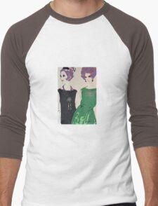 Pop Art Mid-Century Inspired Retro Portrait - Women #1 Men's Baseball ¾ T-Shirt