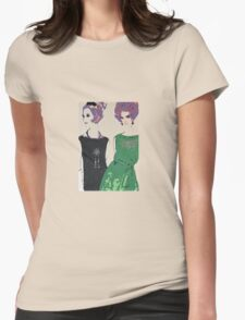 Pop Art Mid-Century Inspired Retro Portrait - Women #1 Womens Fitted T-Shirt