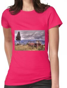 Little Red Wagon of the Wild West Womens Fitted T-Shirt