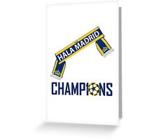 HALA MADRID WINNERS CHAMPIONS LEAGUE Greeting Card