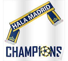 HALA MADRID WINNERS CHAMPIONS LEAGUE Poster