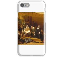 Robert Walter Weir (). Embarkation of the Pilgrims,  iPhone Case/Skin