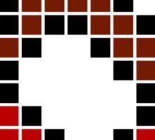 8 bit pixel cherries Sticker