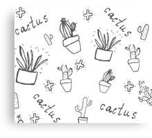 Hand draw cactus  Canvas Print