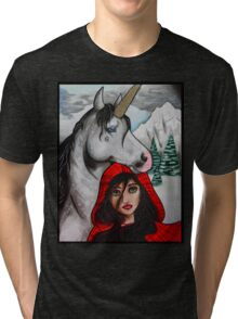 Unicorn Girl Tri-blend T-Shirt