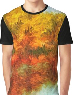Autumn Lake Impressions Graphic T-Shirt