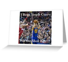 Steph Curry Greeting Card