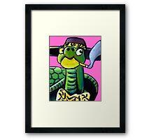 Turtle Pimp Framed Print