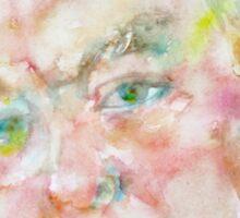 WINSTON CHURCHILL - watercolor portrait.4 Sticker