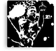 Conor McGregor flips the bird black/white Canvas Print