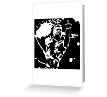 Conor McGregor flips the bird black/white Greeting Card