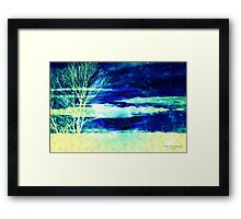 Mysterious as Midnight Framed Print