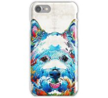 Colorful West Highland Terrier Dog Art Sharon Cummings iPhone Case/Skin