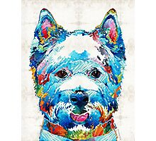 Colorful West Highland Terrier Dog Art Sharon Cummings Photographic Print