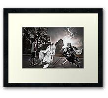 Allen Iverson & Taiga Kagami  Framed Print