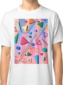 80s pop retro pattern 2 Classic T-Shirt