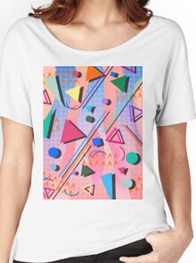 80s pop retro pattern 2 Women's Relaxed Fit T-Shirt