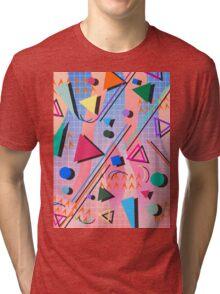 80s pop retro pattern 2 Tri-blend T-Shirt