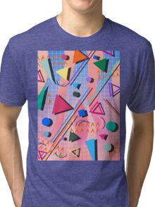 80s pop retro pattern 2 Tri-blend T-Shirt