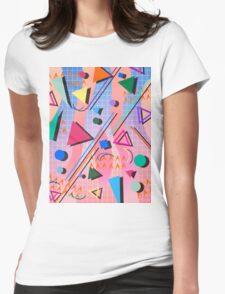 80s pop retro pattern 2 Womens Fitted T-Shirt