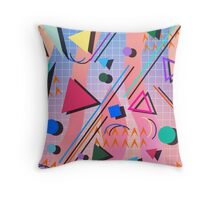 80s pop retro pattern 2 Throw Pillow