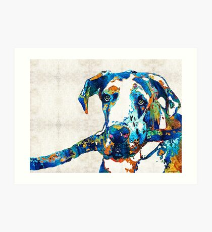 Great Dane Art - Stick With Me - By Sharon Cummings Art Print