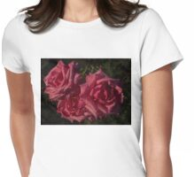 Pretty In Pink - Three Fabulous Old Fashioned Sweetheart Roses Womens Fitted T-Shirt
