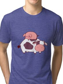 Cow and Pig Tri-blend T-Shirt