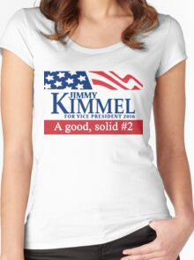Jimmy Kimmel A Good Solid #2 Women's Fitted Scoop T-Shirt