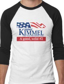Jimmy Kimmel A Good Solid #2 Men's Baseball ¾ T-Shirt