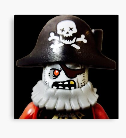 Lego Zombie Pirate minifigure Canvas Print
