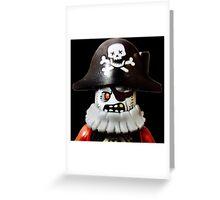Lego Zombie Pirate minifigure Greeting Card