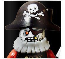Lego Zombie Pirate minifigure Poster