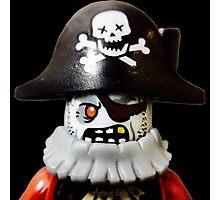 Lego Zombie Pirate minifigure Photographic Print