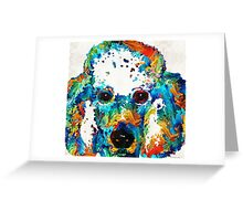 Colorful Poodle Dog Art by Sharon Cummings Greeting Card