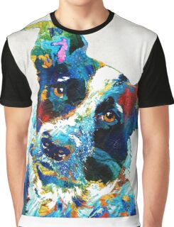 Colorful Dog Art - Irresistible - By Sharon Cummings Graphic T-Shirt