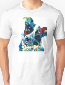 Colorful Dog Art - Irresistible - By Sharon Cummings Unisex T-Shirt