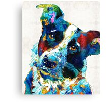 Colorful Dog Art - Irresistible - By Sharon Cummings Canvas Print