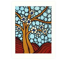 The Loving Tree - Abstract Mosaic Landscape Art Print Art Print