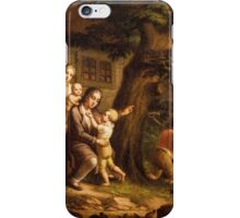Rural family idyll iPhone Case/Skin
